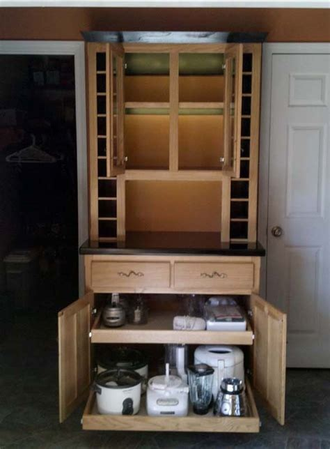 Fivebraids Custom Woodworking   Liquor/Wine Hutch