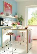 Pretty Bright Small Kitchen Color For Apartment Mesas Altas De Cocina Alternativa A Las Mesas Plegables En Cocinas