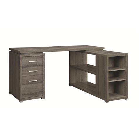 Modern Desks  Yvonne Gray Washed Desk Eurway