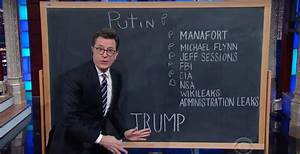 Stephen Colbert Tries To Make Sense Of Trump U0026 39 S Connections