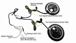 Install Jeep Wrangler Led Headlights  10 Steps