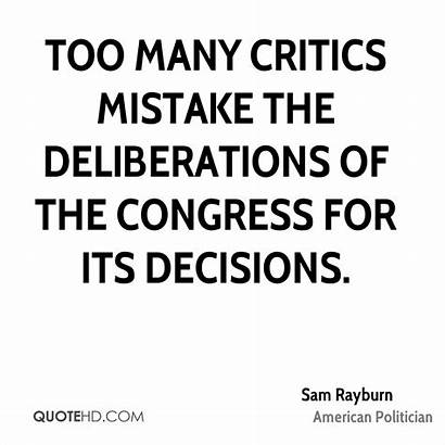 Rayburn Quotes Many Sam Critics Mistake Too