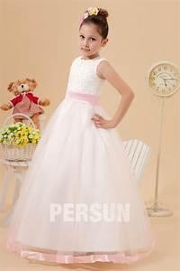 robe mariage enfant princesse en tulle ornee dappliques With robe princesse pour mariage