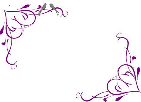 love birds grey corner frame purple clip art  clkercom