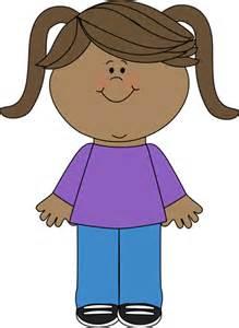 Happy Little Girl Clip Art