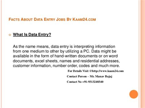 Data Entry Clerk Qualifications by Facts About Data Entry By Kaam24