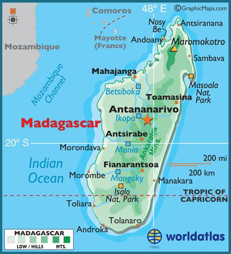 madagascar large color map