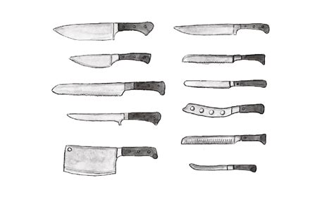 different kinds of kitchen knives learn how to use different types of knives an illustrated