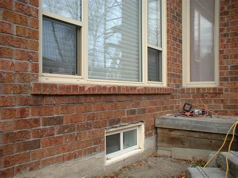 New Window Sill by Deteriorating Brick Sills That Needs Replacing Window