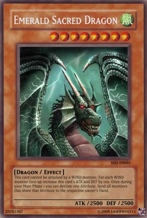 Emerald Dragon Template by Emerald Sacred Dragon Yu Gi Oh Card Maker Wiki Cards