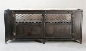 Hand Crafted Industrial Media Cabinet, Tv Stand