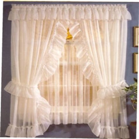 sheer priscilla curtains with attached valance sheer priscilla curtains sheer priscilla pair with tie