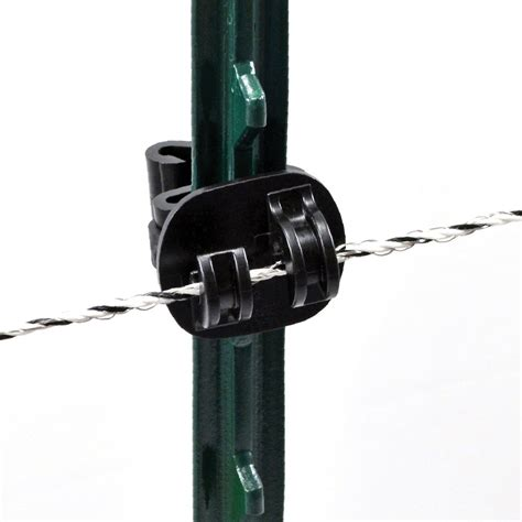 Made of non conductive material an insulator stops the voltage from running through your live wires and escaping. Claw T-Post Insulator - POWERFIELDS - High Quality Electric Fence