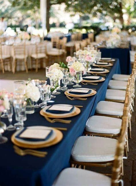 refined dusty rose and navy blue wedding color ideas