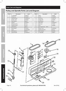 Pulley And Spindle Parts List And Diagram  Safety Opera