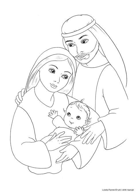jesus mary  joseph coloring page sunday school