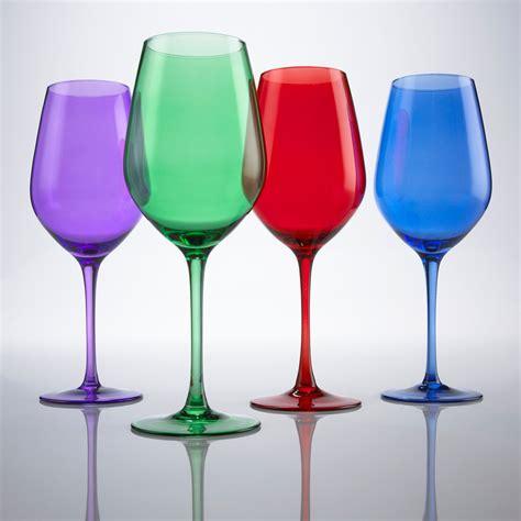 colored wine glasses colorful fall glassware craftbnb