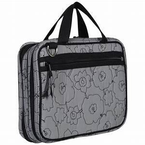 Thirty-One Double Zip Cosmetic Bag - Grey Quilted Poppy ...