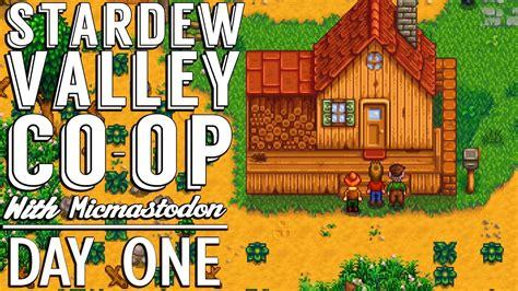 Day One Stardew Valley Coop Gameplay Sdv