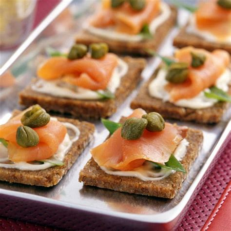 easy smoked salmon canapes smoked salmon canapes recipe smoked salmon