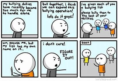 Bullying Haha Invisible Bread Comics Lame Via