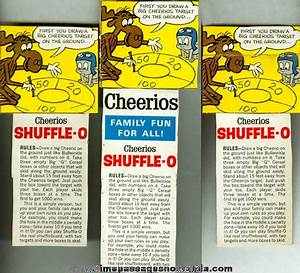 (3) Old Rocky & Bullwinkle Cheerios Cereal Side Box Panels ...