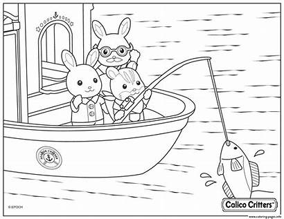 Critters Coloring Calico Fishing Pages Printable Info