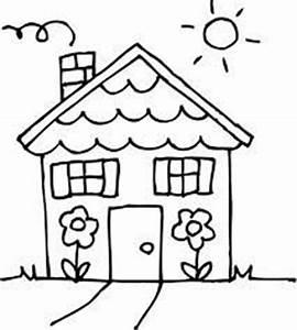 Little People Wohnhaus : house clipart coloring black white ~ Lizthompson.info Haus und Dekorationen