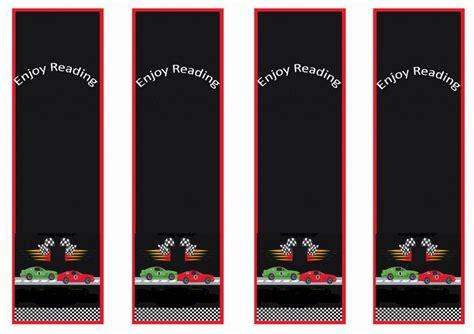 cars bookmarks birthday printable