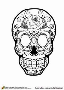 Dessin Tete De Mort Avec Rose : coloriage cr ne en sucre mexicain rose fleurie ~ Melissatoandfro.com Idées de Décoration