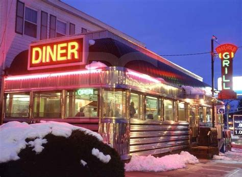 Serving breakfast, lunch and dinner daily. Beautiful, shiny New Jersey Diner | Cool Diners! | Pinterest