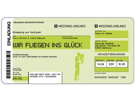 einladungskarten flugticket geburtstag hochzeit