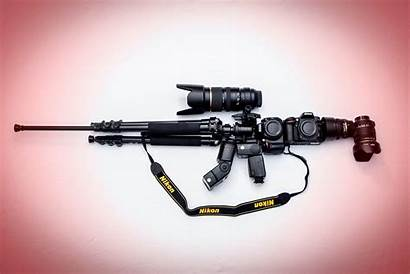 Nikon Camera Background Wallpapers M16 Rifle Weapon