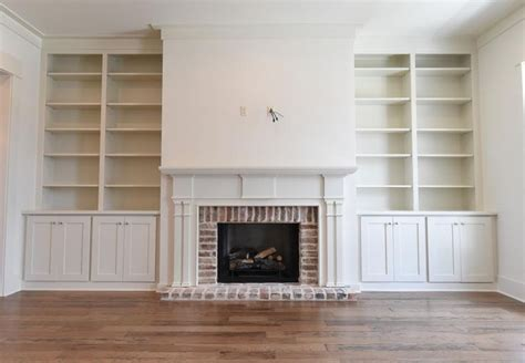 Custom Made Cypress Mantle With  Ee  Built Ee   In Bookcases  Ee  Built Ee
