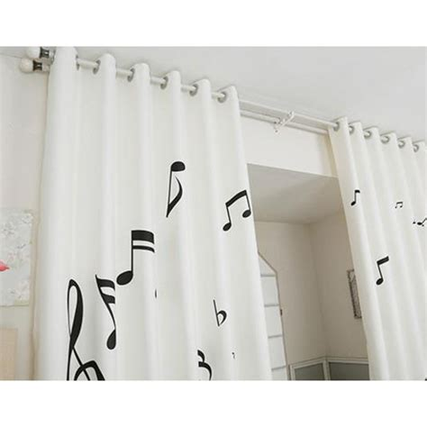 Note Bedroom Curtains by Black And White Unique Nursery Note Curtains And Drapes