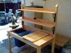 potting bench plans  sink easy diy idea
