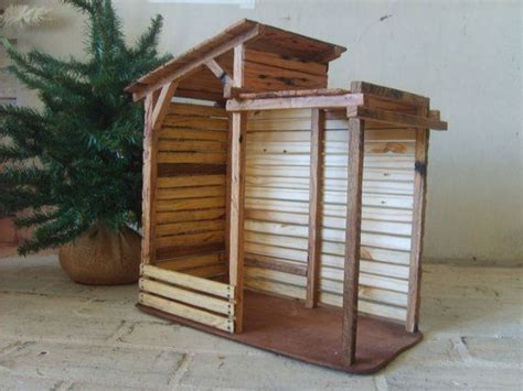 wooden nativity creche stable outdoor nativity nativity