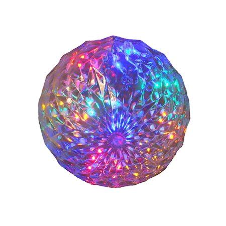 multi color led lighted hanging christmas crystal