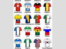 World Soccer Cup Groups Illustration Part 2 Soccer