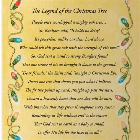 legend of the christmas tree christmas card set of 20