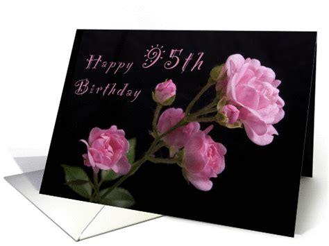 happy  birthday pink roses card