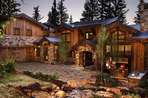 wood  stone mansion beautiful homes  vacation