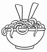 Espaguetis Fideos Platos Resultado Coloringpagesfortoddlers sketch template
