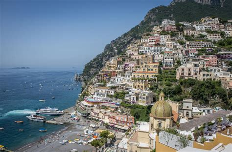Positano Italy May 28 2015 Typical Medieval Narrow