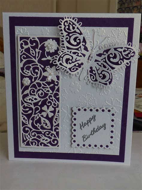 tattered lace birthday cards inspired   card