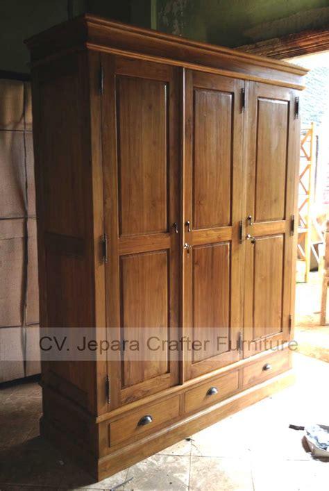 colonial bedroom wardrobe cabinet solid teak wood