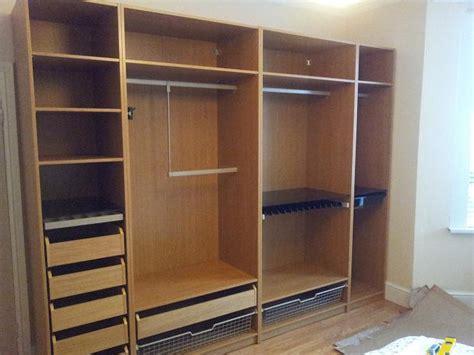 Pax Doors 75cm & Ikea Pax Double Wardrobe With Doors And