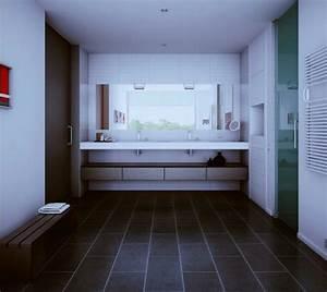 Badezimmer Grauer Boden Weiße Wand : ideen innenausstattung vom designer minimalistisches aussehen ~ Bigdaddyawards.com Haus und Dekorationen