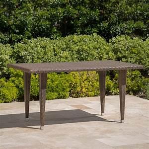 Dominica, Outdoor, Rectangular, Wicker, Dining, Table