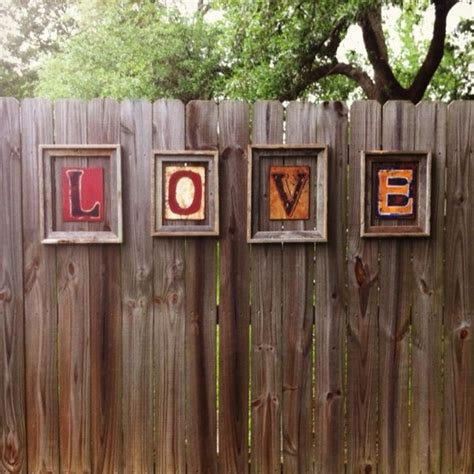 backyard fence decor 17 best images about fence decorating ideas on